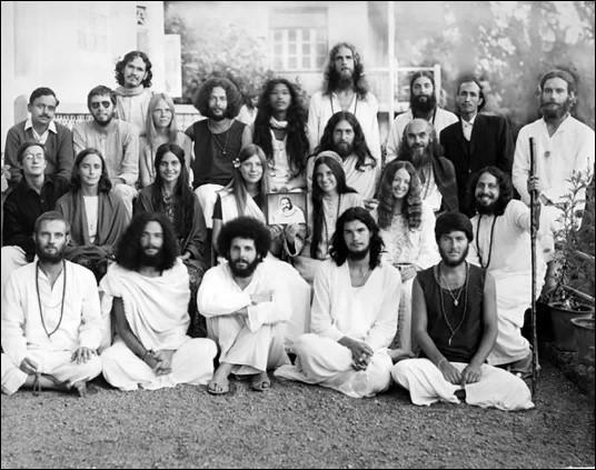 """A group photo of the """"Nainital High"""", Maharajji satsang, Nainital, from 1971."""