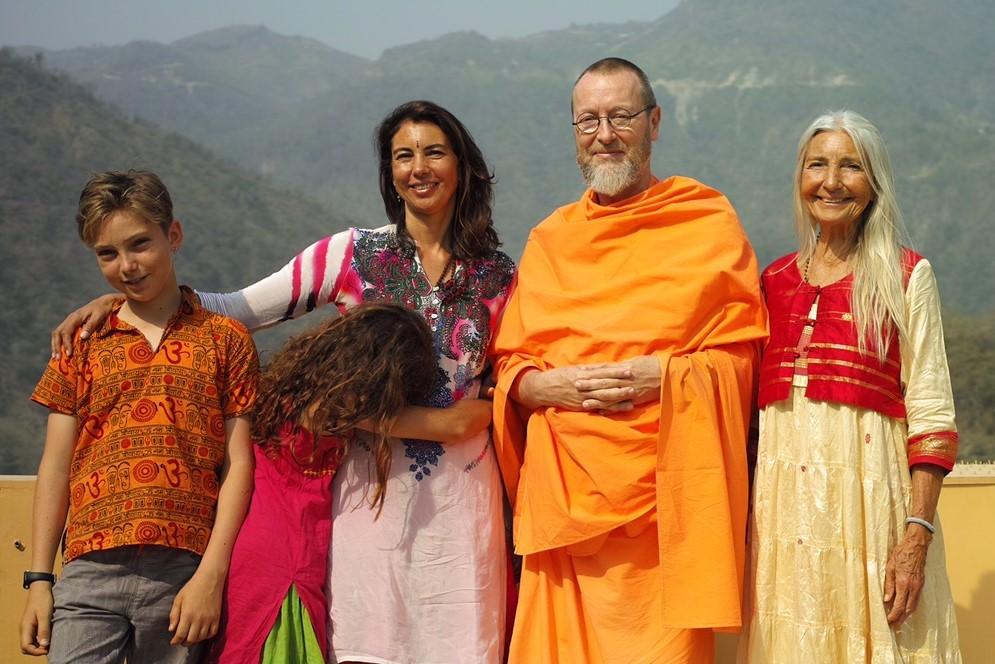 Photo of Sri Ganga Mira with family