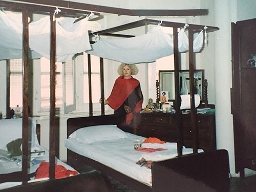 Photo of the hotel bedroom in 1991.